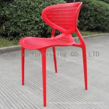 Пастырской Стиль стул Красный пластиковый Штабелировать для продажи (СП-uc118)