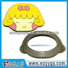 2D Fancy Rubber Mirror With Cartoon Face