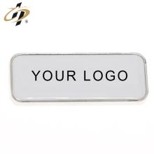 Aimant de réfrigérateur en métal blanc argent rectangle personnalisé avec logo propre
