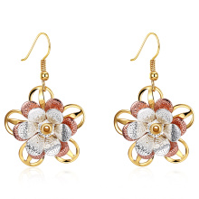 K Gold Zircon Earrings Gold Color Women Earrings Fashion Gold Jewelry