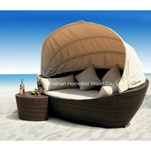 Meuble de jardin Ensemble de lit de salon en osier extérieur (OT01)