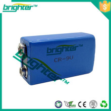 Li-Ionen-Akku primäre Lithium-Batterie 1200mah 6f22 Größe 9v Lithium-Batterie er9v