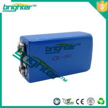 Bateria Li-ion bateria primária de lítio 1200mah 6f22 tamanho 9v bateria de lítio er9v