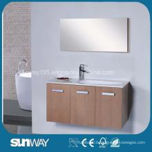 Hot Sale Wooden Veener Bathroom Vanity with Mirror
