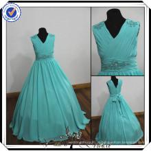 FF0006 реальный полный-длина образца бальное платье пляж свадебное цветочница платье 2014