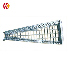 Hot dipped galvanized spiral stair step steel ladder grating tread for spiral stair