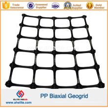Geogrid biaxial plástico do Polypropylene dos PP com certficate do CE