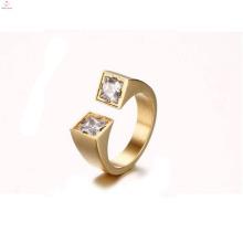 Модный Дизайн Два Отверстия CZ Камень Ювелирные Изделия Кольца