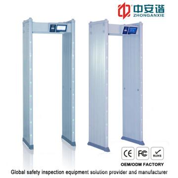 18 Detection Zones Waterproof Door Frame Metal Detector with Mobile Remote Control