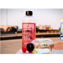 1000ml / 600ml Moda Design calor Resitance Portable garrafa de vidro para presentes