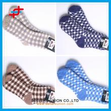 cheap price cozy warm check pattern ankle socks custom logo