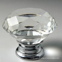 O diamante de 40mm enfrenta os punhos de cristal da decoração da mobília da forma