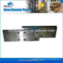 Elevator Fishplate for T70-1/B, T75-3/B, T89/B, T114/B, T127-2/B Machined Elevator Guide Rail