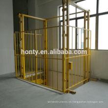 Almacén hidráulico vertical guía carril elevadores de carga