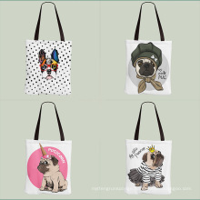 Custom durable soft canvas tote shopping bags