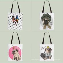 Kundenspezifische robuste Einkaufstaschen aus weichem Canvas