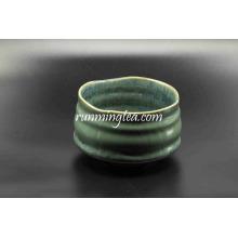 Alta Qualidade Handmade Green Vitrificação Cerâmica Matcha Bowl