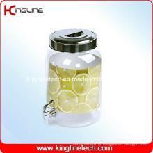 2.2 Gallon Round Plastic Water Jug Venda Atacado BPA Free with Spigot (KL-8014)