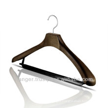 Plastic Jacket Hanger with Trousers Bar for Hotel Equipment