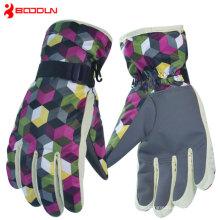 Leder Goretex beheizte Snowboard Handschuhe mit Reißverschluss