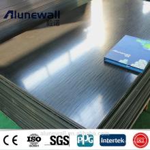 3mm 0.3mm 830mm width Brushed Black unbroken acp TV Backboard aluminum composite panel on sale 85RMB/sqm