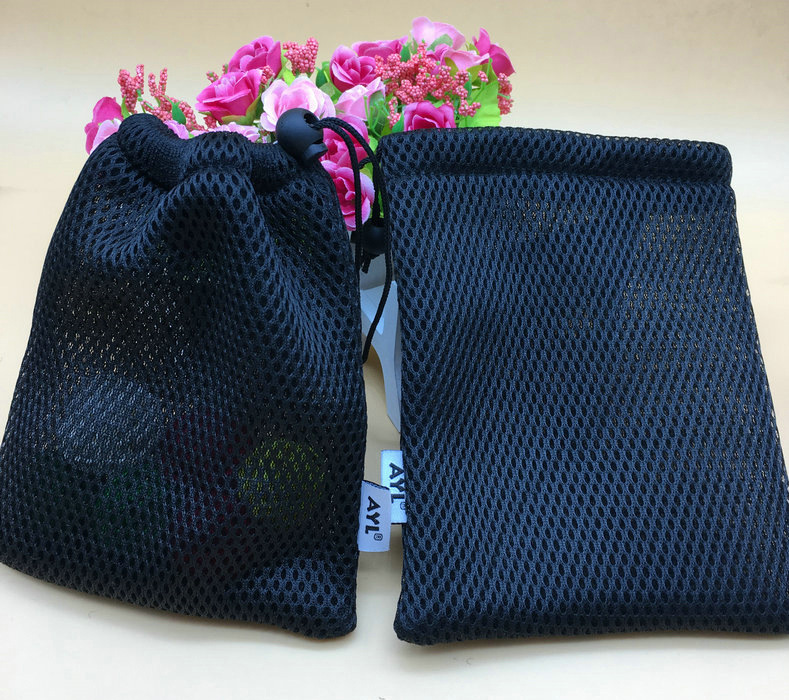 Wholesale High Quality Black Polyester Mesh Bag