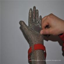 Проволока из нержавеющей стали мясник перчатки безопасности для скотобойни