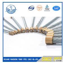 Fil en acier de haute qualité échoué 7 / 0.8mm pour la fabrication de câble optique