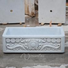 Custom-Made Kitchen Bathroom Natural Quartz Stone Sink (Factory Supplying)