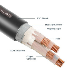 2*10 AWG 2 x 6mm2 Aluminum Copper Core Power Cable With PVC Insulation