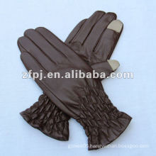 Fashion Elasticity Cuff Ladies's Leather Touch Screen Glove