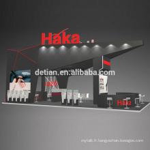 Detian offre élégant vape e cigrette grande taille support de stand portable affichage équipement de salon commercial