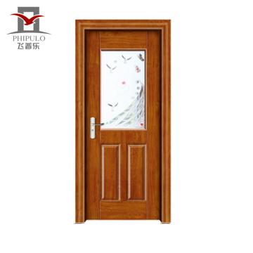 2018 alibaba venta caliente mejor precio último diseño de madera puerta de madera