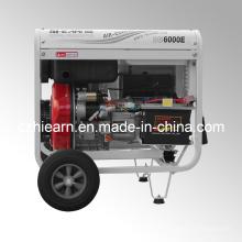Ensemble de générateur de diesel à cylindre simple à 5kw Open Frame Luxury Type (DG6000E)
