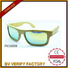 Mode 2015 Noble grün Holzbrille (FX15059)