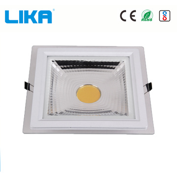 Panel de luz LED COB GLass cuadrado de 5w
