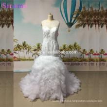 Mermaid Wedding Dresses Luxurious Beaded Crystals Nude Back See Through Organza Wedding Gown Kim Kardashian Bride Dress