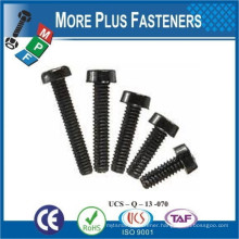 Made in Taiwan Black White Nylon Round Phillips Slotted Plastic Round Head Screw