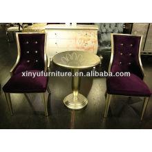 Модный стул с высоким спинкой с круглым чайным столом XY4900