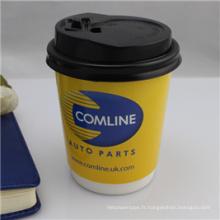 Tasse de papier de café de boisson chaude imprimée de catégorie comestible
