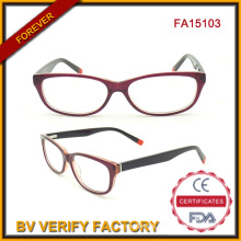 Eco-Friendly Optic Acetate Multi-Color Newest Designer Glasses (FA15013)