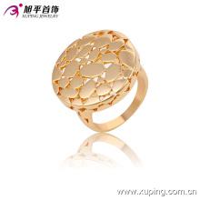 Simples 18k banhado a ouro moda imitação rodada anel de dedo jóias - 13618