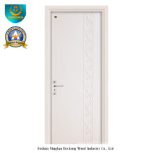 Modern Style Solid Wood Door with White Color for Interior (ds-091)