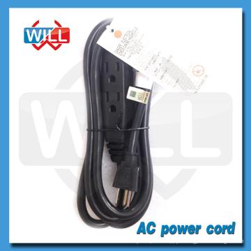 Haute qualité UL CUL NEMA 5-15P us cordon d'alimentation avec prise