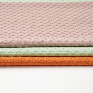 Tissu en tricot jacquard poly coton Span