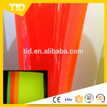 Venda quente filme de cor pvc rolo Fluorescente para carro material adesivo de vinil com preço baixo