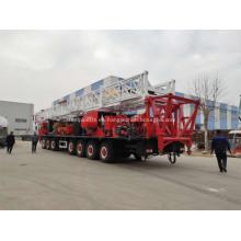 Plataforma de reacondicionamiento montada sobre camión de 9000 m para petróleo y gas
