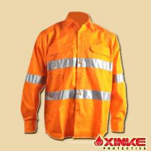 camisa protectora contra UV ultravioleta respirable al por mayor de 100 algodón