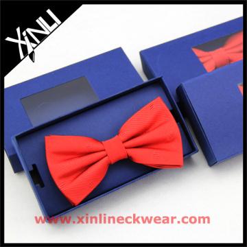 Red Custom Bow Tie Gift Box in Navy Necktie Storage Box