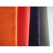 Tissu uni de tissu de sergé blanc teint par vêtement de chemise de polyester de coton